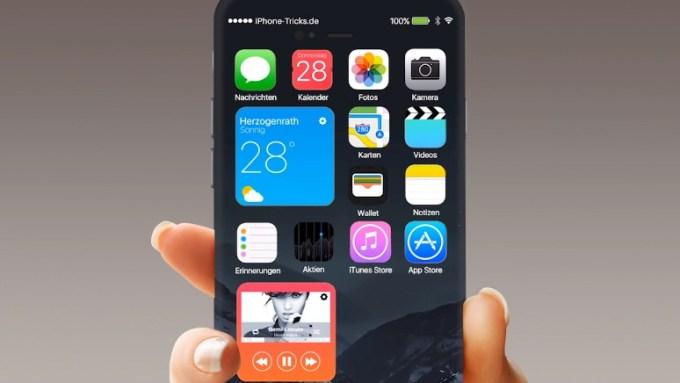 Koncept UI systemu iOS 10 na iPhone 7