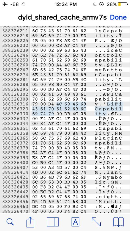 LiFi Capability w kodzie systemu iOS