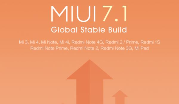 MIUI 7.1 w wersji międzynarodowej OTA