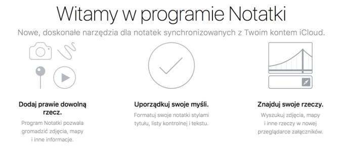 Nowe funkcje w aplikacji mobilnej Notatki na iOS-a