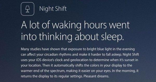 """Apple wprowadza """"tryb nocny"""" w iOS 9.3"""