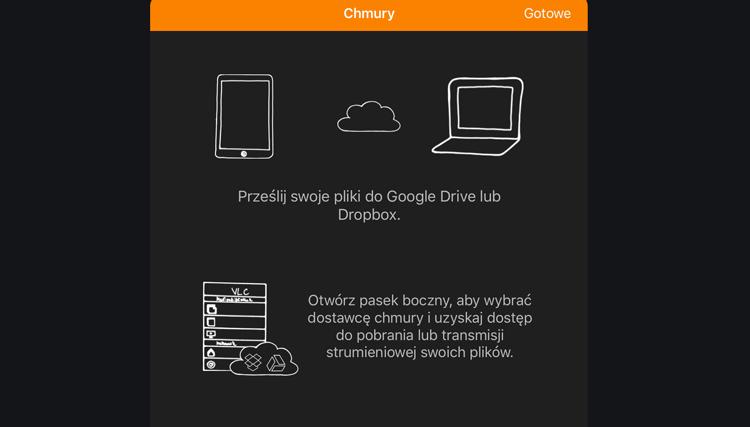 VLC - przesyłanie i udostępnianie plików z chmury