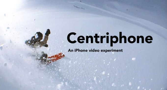 Centriphone by Nicolas Vuignier (iPhone 6 wideo)