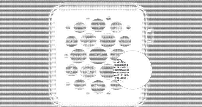 Facebook ASCII Art - przekształcenie zdjęcia (z dodanym rozszerzeniem .txt)