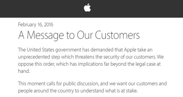 Apple odpowiada publicznie na prośbę FBI i sądu