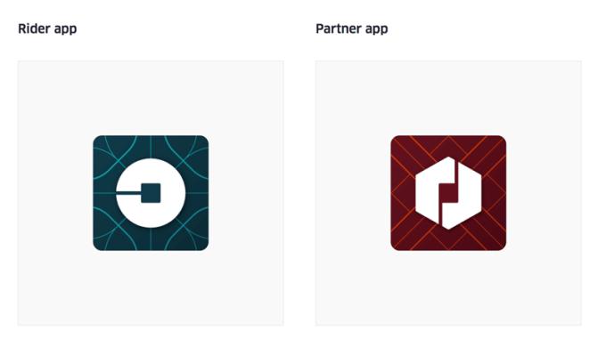 Nowa ikona aplikacji mobilnej Uber
