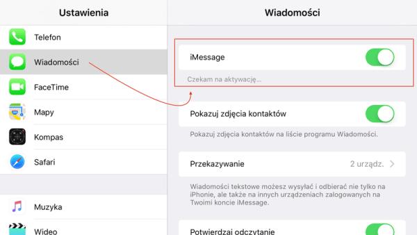 Problem z aktywacją numeru w iMessage i FaceTime