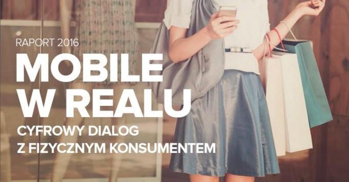 """Okładka raportu Linteri: """"Mobile w Realu - Cyfrowy dialog z fizycznym konsumentem"""""""