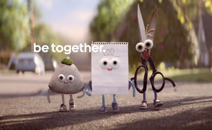 Reklama Androida - Be together. Not the same.
