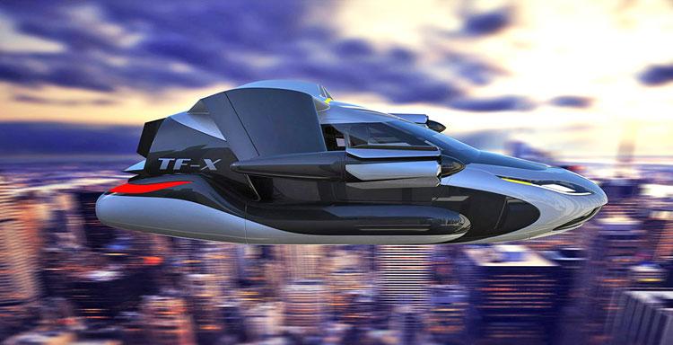 Terrafugia TF-X (latający pojazd, samochód) w 2018 r.