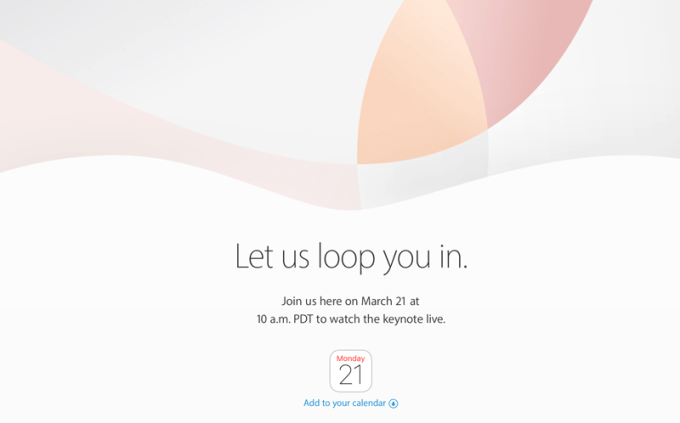 "Konferencja Apple ""Let us loop you in."" (21 marca 2016)"