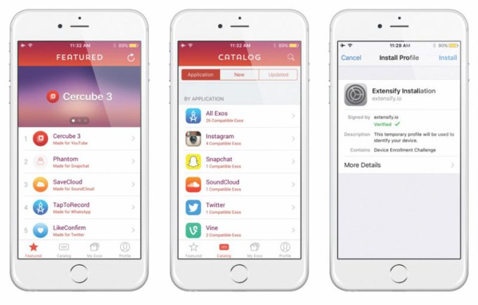 Extensify - aplikacja umożliwiająca dodanie funcji jailbreaka do iPhone'a