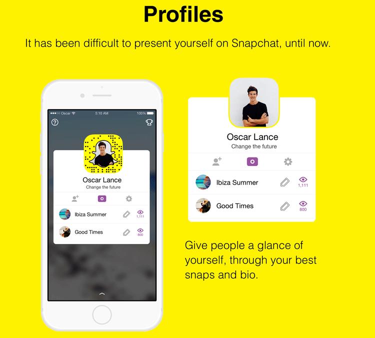 Projekt widoku Profilu w aplikacji mobilnej Snapchat 10