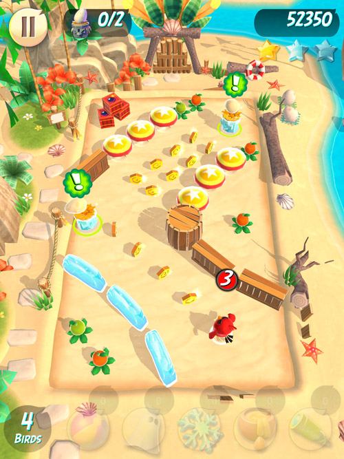 Screen z gry Angry Birds Action na iPada