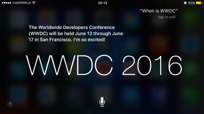 WWDC 2016 - data i miejsce tegorocznej konferencji zdradza Siri