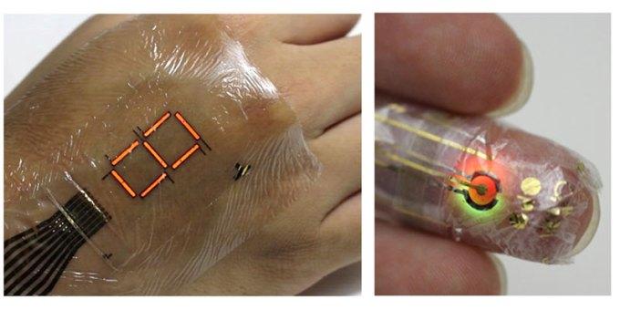Oryginalne zdjęcie prototypu e-skóry