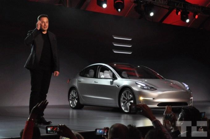 Elon Musk i Tesla Model 3