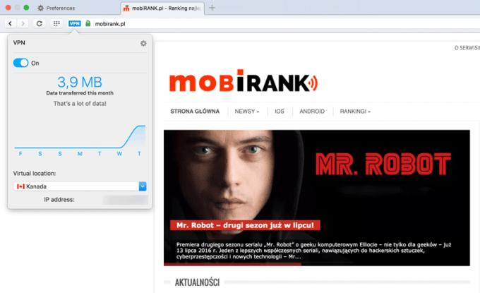 Darmowy VPN w przeglądarce Opera