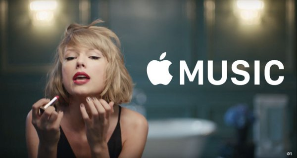 """Śpiewająca"" Taylor Swift w reklamie Apple Music"