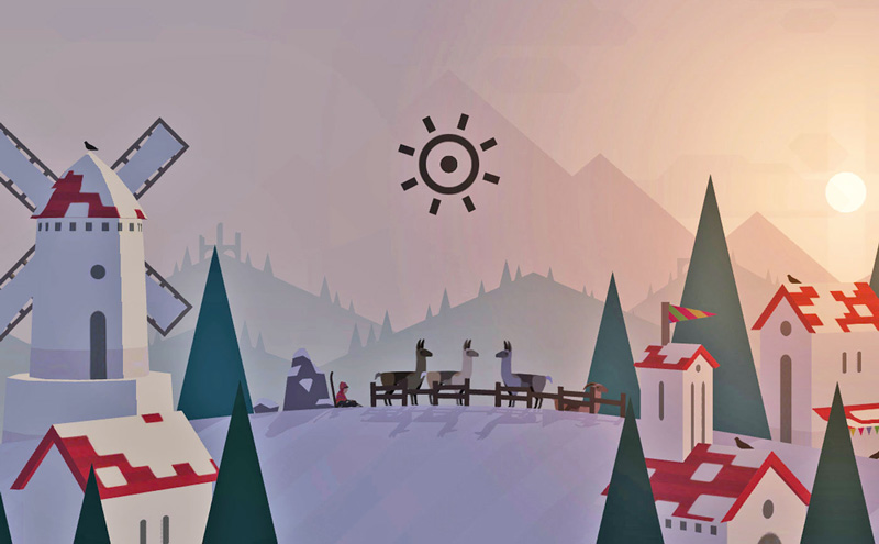 Tryb zen w grze Alto's Adventure