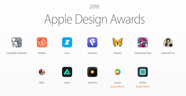 Zwycięzcy Apple Design Awards 2016