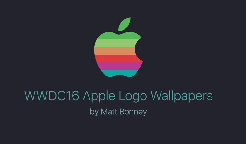 Tapety na iUrządzenia z logo Apple'a w stylu retro z okazji WWDC 2016