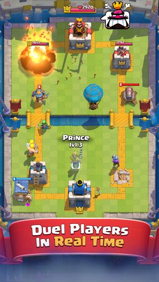 Screen z gry mobilnej Clash Royale