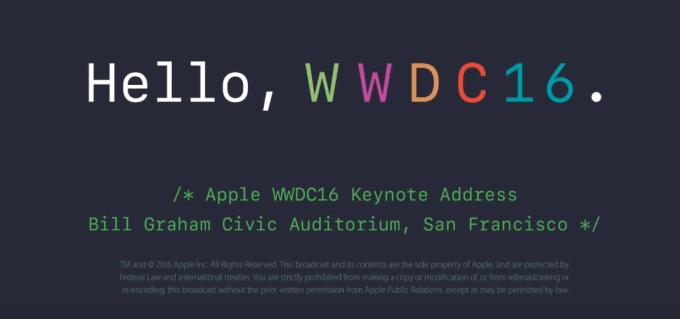 Nagranie konferencji Keynote WWDC 2016