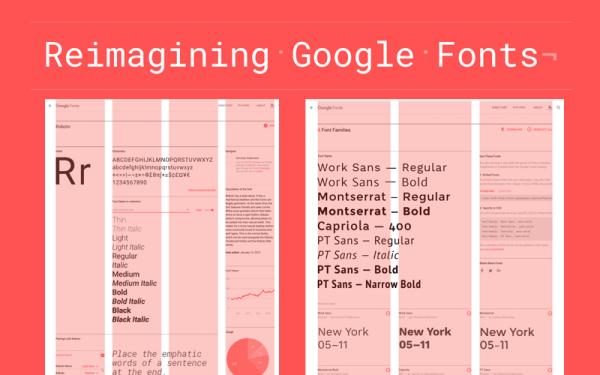Nowy przeprojektowany serwis Google Fonts