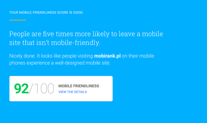 Mobile Website Mobile-Friendly test - Think With Google