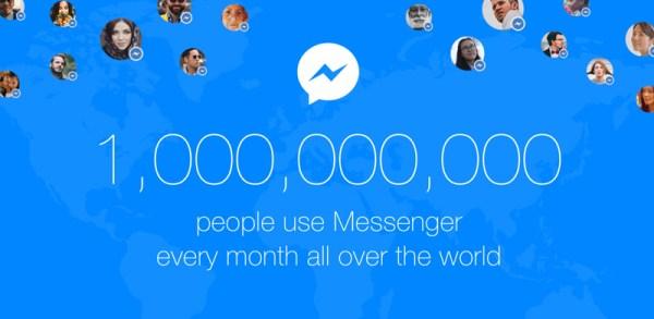 Facebook Messenger ma ponad 1 mld aktywnych użytkowników