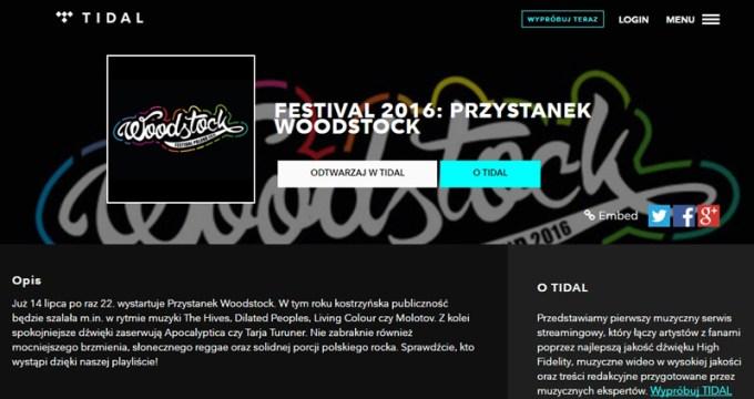 Playlista w TIDAL na 22. Przystanek Woodstock od Play
