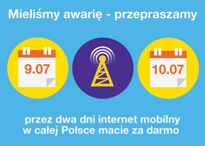Darmowy internet mobilny od Orange przez weekend w ramach przeprosin