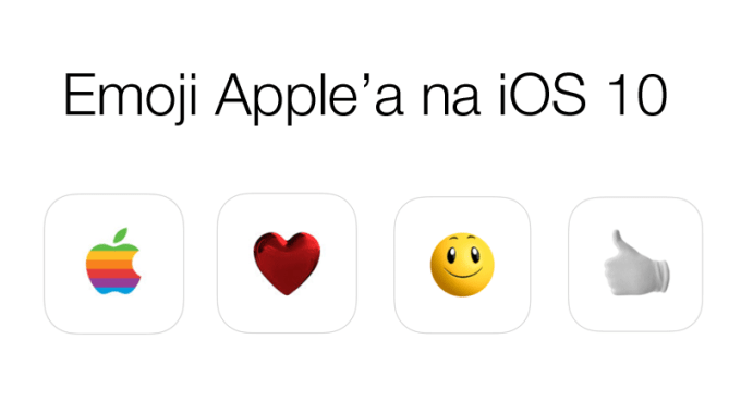 Paczki z ikonami Emoji na system iOS 10
