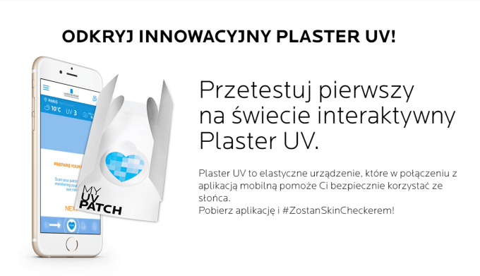 Interaktywny plaster UV od L'Oreal