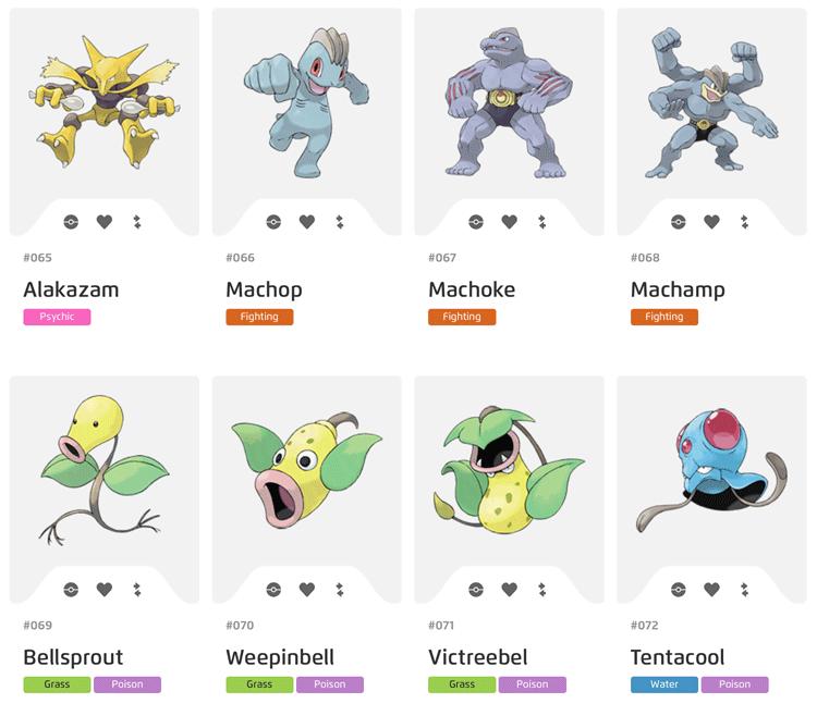 Pokemony z Pokedex 65-72