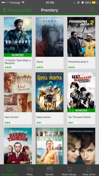 Screen z aplikacji CHILI - Premiery filmów (iOS)