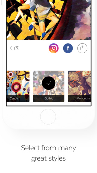 Aplikacja Prisma (screen iOS)