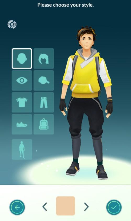 Ustawienia awatara w Pokemon GO