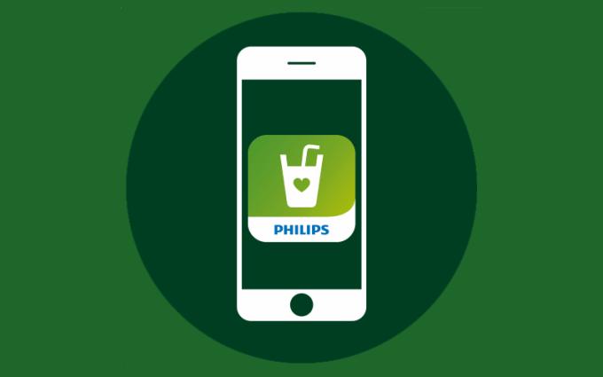 Aplikacja Zdrowe napoje od Philips