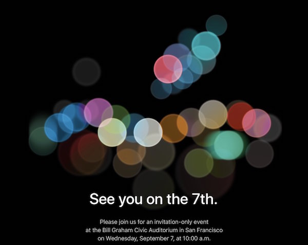 Zaproszenie: See you on 7th. - Apple Special Event - iPhone 7