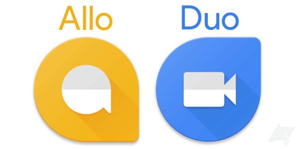 Inne wizualizacje ikon aplikacji Allo i Duo