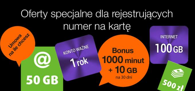 Oferty specjalne dla rejestrujących numer na kartę - czyli jak i gdzie najlepiej zarejestrować SIM?