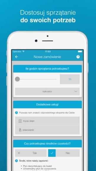 Aplikacja mobilna Pozamiatane.pl - screen