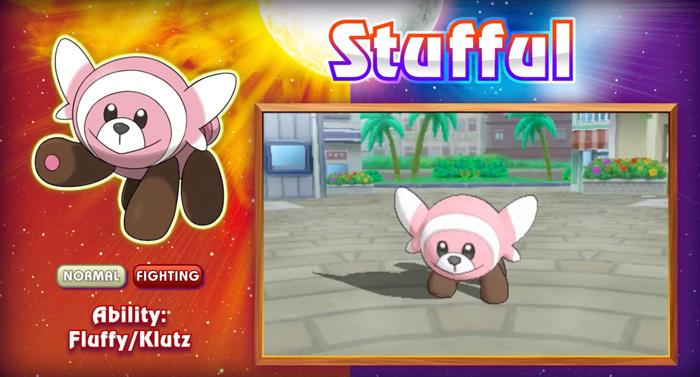 Stufful - pokemon z Pokemon Sun i Moon