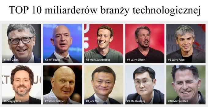 TOP 10 miliarderów z branży technologicznej (Forbes 2016)