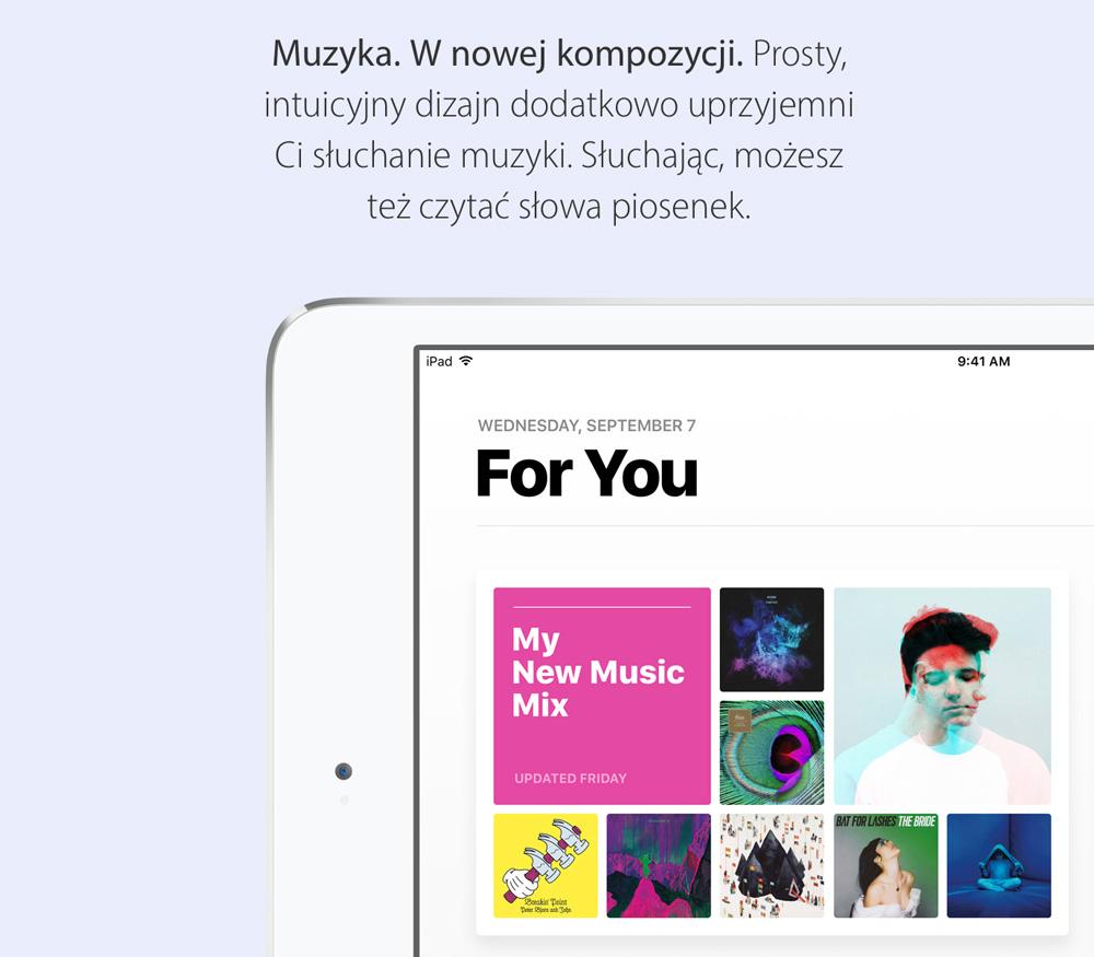 Nowa aplikacja Apple Muzyka pod iOS 10