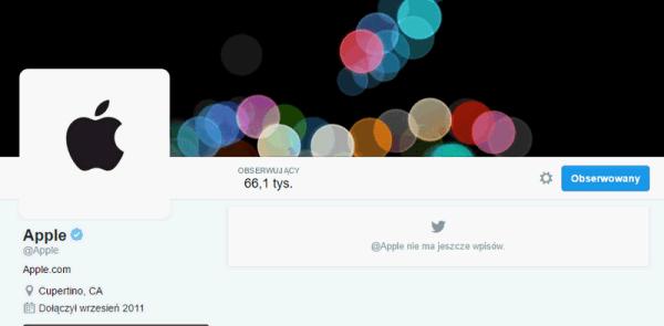 Zweryfikowane konto @apple na Twitterze