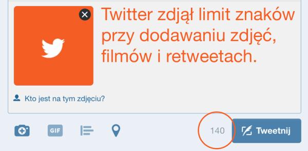 Twitter zdjął limit znaków tweeta przy dodawaniu mediów