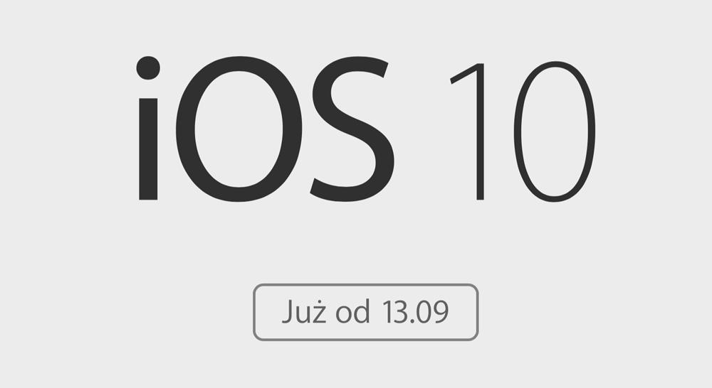 iOS 10 juz 13 września 2016 r. w trybie OTA